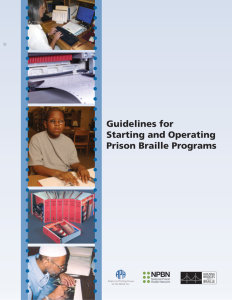 Guidelines for Starting and Operating Prison Braille Programs