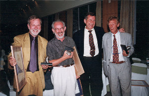 Collins with Tony Best, Jacque Sourieau, and William Green (Recipients of DbI award 1999-Lisbon)