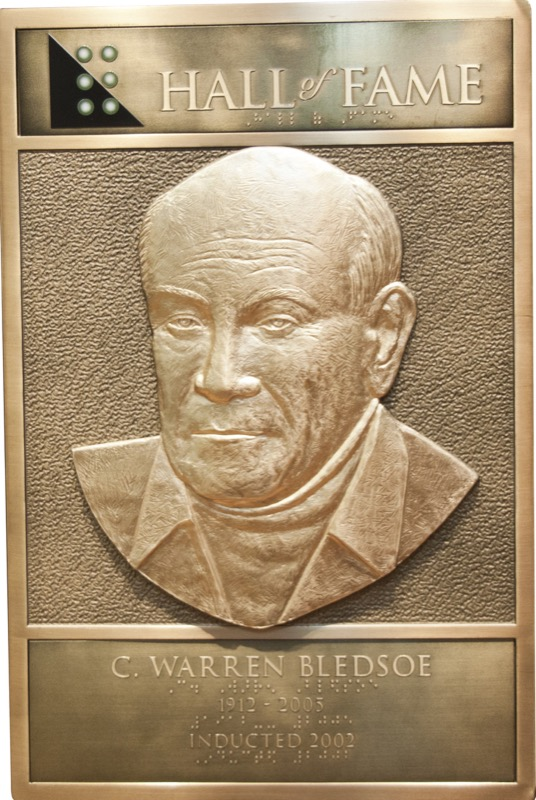 Warren Bledsoe's Hall of Fame Plaque