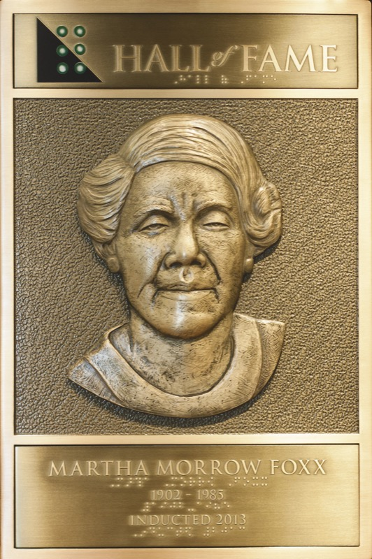Martha Louise Morrow Foxx's Hall of Fame Plaque
