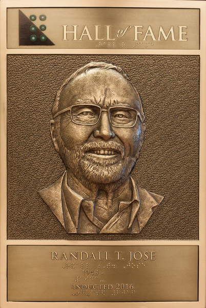 Randall Jose's Hall of Fame plaque