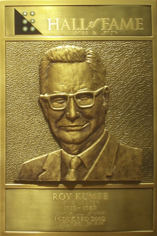 Roy Kumpe's Hall of Fame Plaque