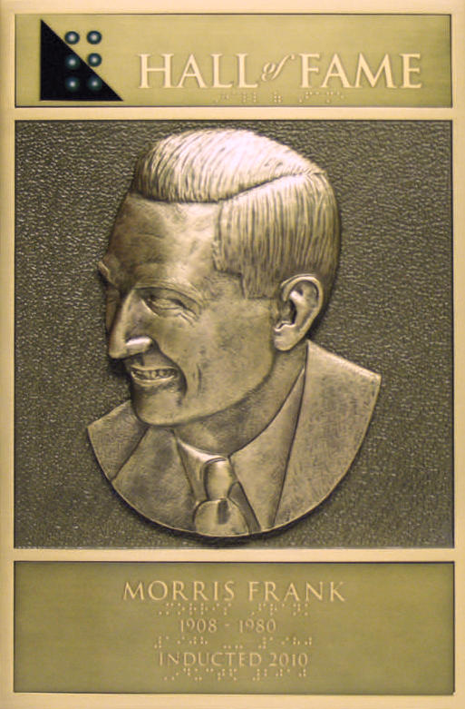 Morris Frank's Hall of Fame Plaque