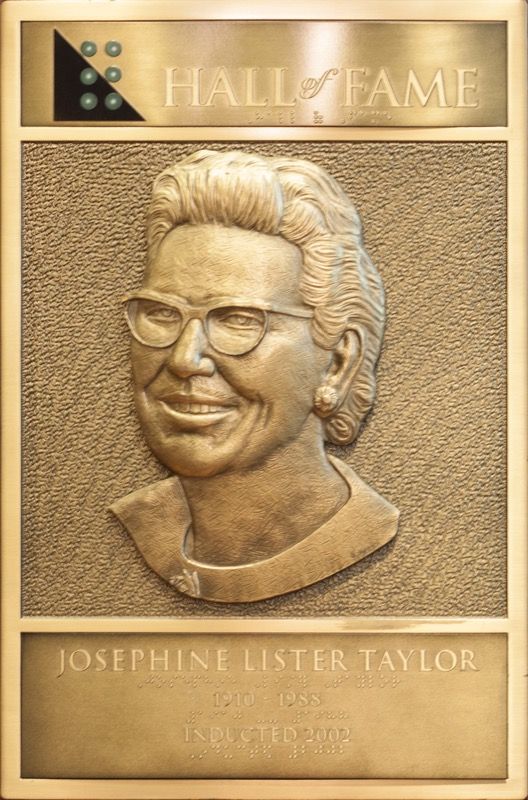 Josephine Taylor's Hall of Fame Plaque