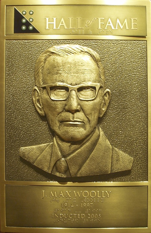 James Max Woolly's Hall of Fame Plaque