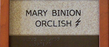 Mary Binion ORCLISH