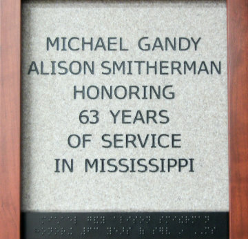 Michael Gandy Alison Smitherman Honoring 63 Years of Service in Mississippi