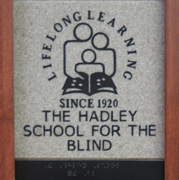 (logo) Lifelong Learning Since 1920 THe Hadley School for the Blind