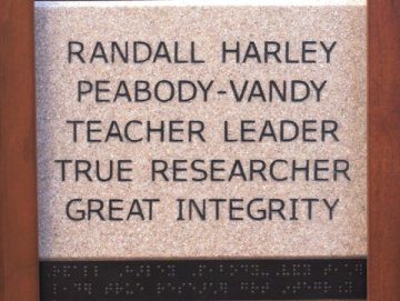 Randall Harley Peabody-Vandy Teacher Leader True Researcher Great Integrity