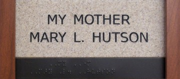 My mother Mary L. Hutson