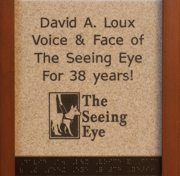 David A. Loux Voice and Face of the Seeing Eye for 38 years