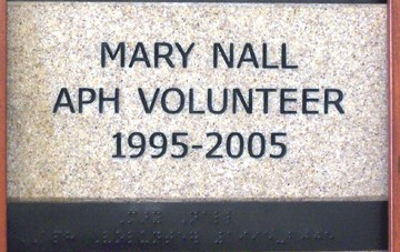 Mary Nall APH Volunteer 1995-2005