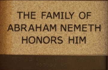 The Family of Abraham Nemeth Honors Him