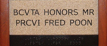 BCVTA Honors Mr PRCVI Fred Poon