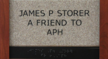 James P Storer A Friend to APH