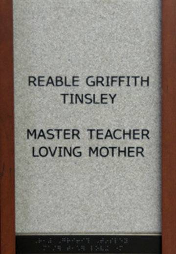 Reable Griffith Tinsley Master Teacher Loving Mother