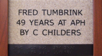 Fred Tumbrink 49 years at APH by C Childers