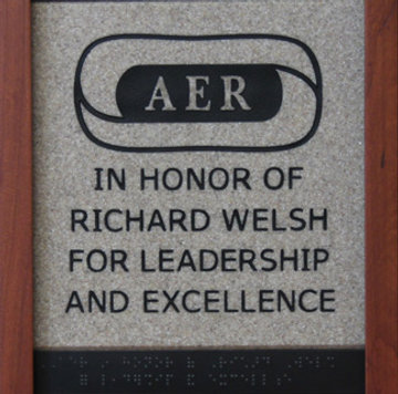 (logo) AER In Honor of Richard Welsh for Leadership and Excellence