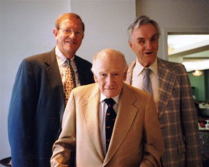 Warren Bledsoe with inductees Richard Welsh (left) and Russell Williams