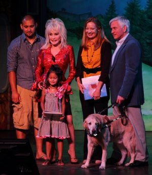 Group photo with Dolly Parton
