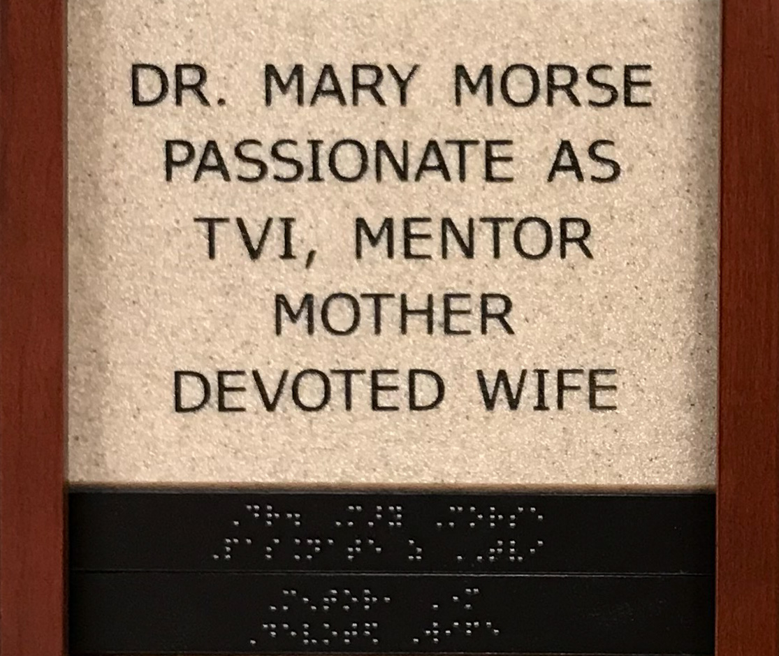 Dr Mary Morse, Passionate as TVI, Mentor, Mother, Devoted Wife