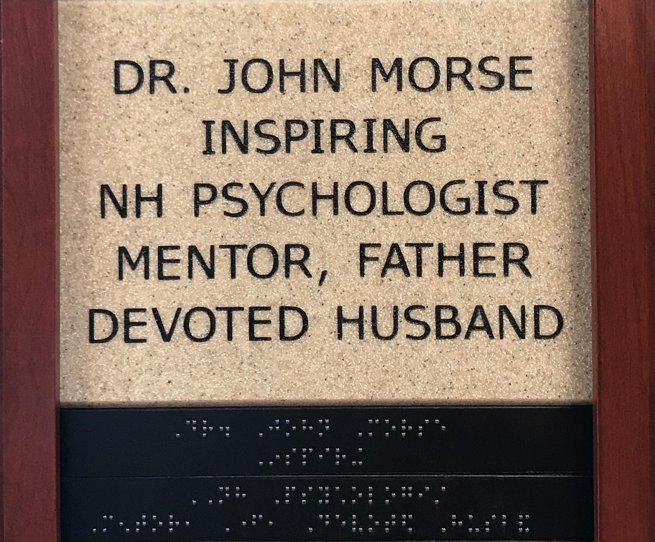 Dr. John Morse, Inspiring NH Psychologist, Mentor, Father, Devoted Husband