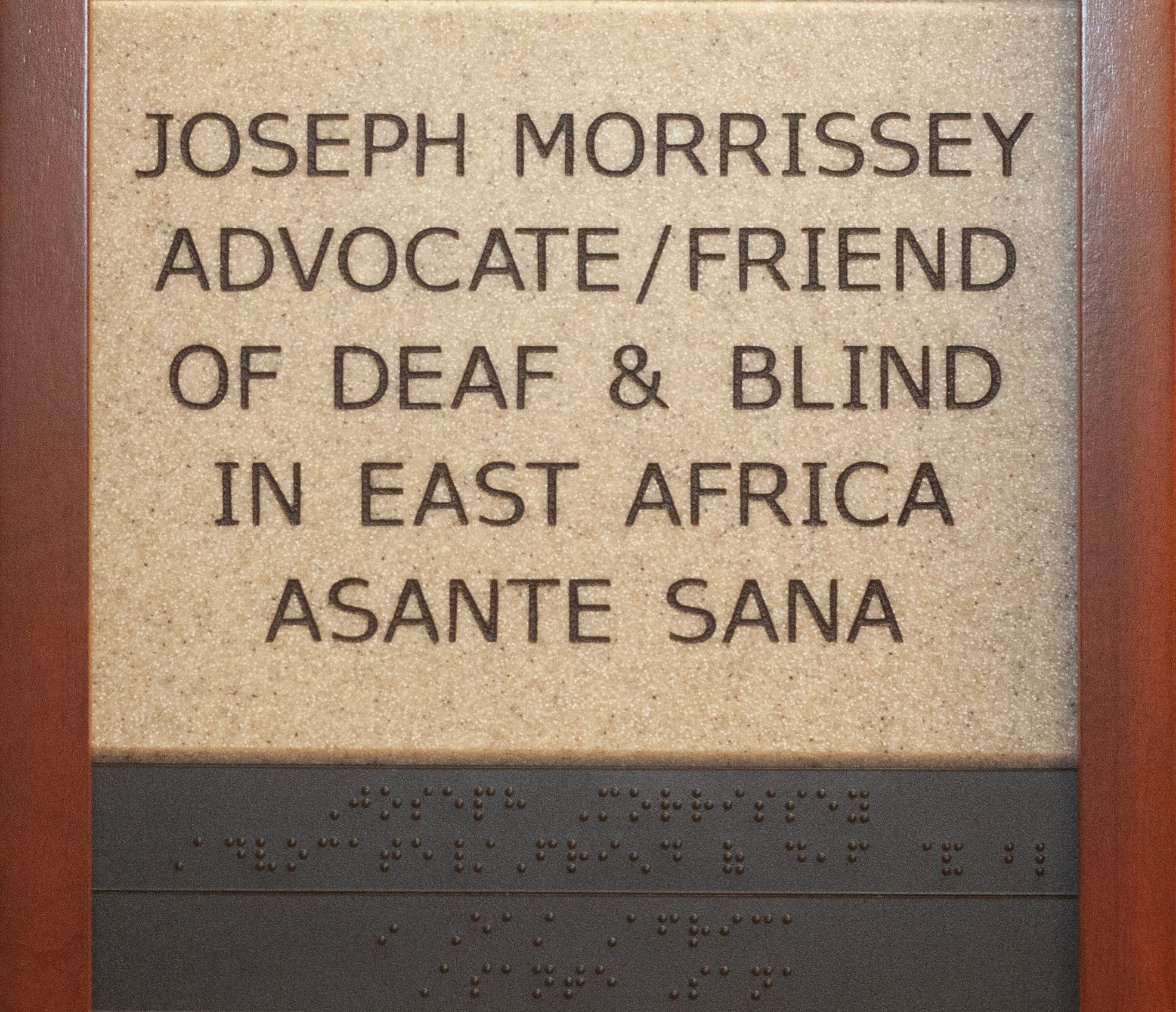 Joseph Morrissey Advocate/Friend of Deaf and Blind in East Africa Asante Sana