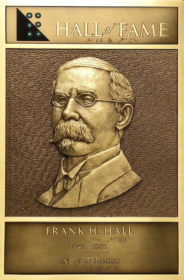 Frank H. Hall's Hall of Fame Plaque
