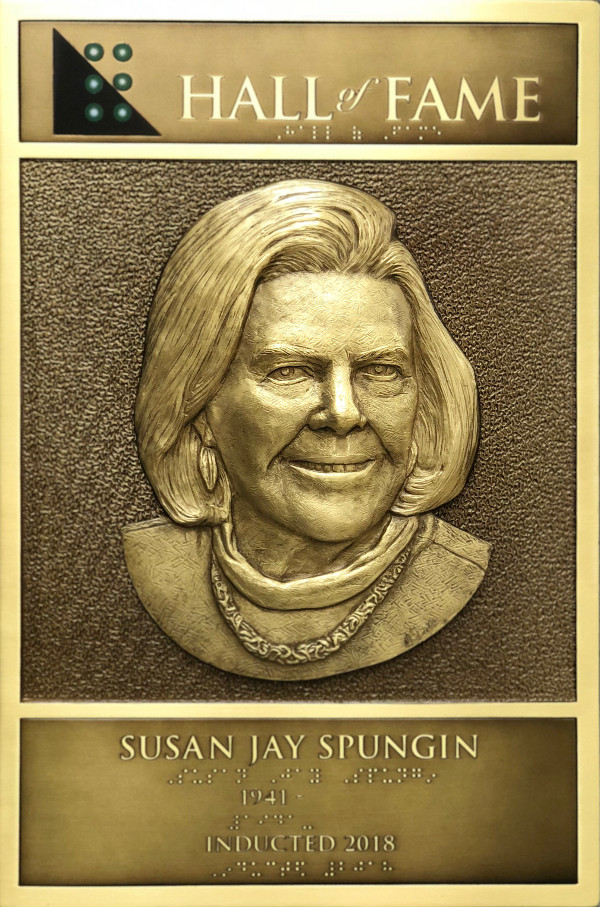Susan Spungin's Hall of Fame Plaque