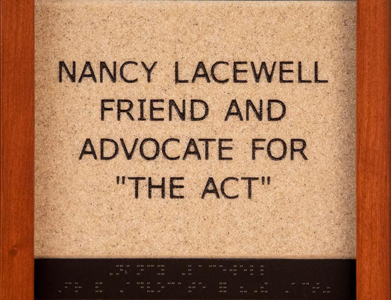 Nancy Lacewell Friend and Advocate for 'The Act'