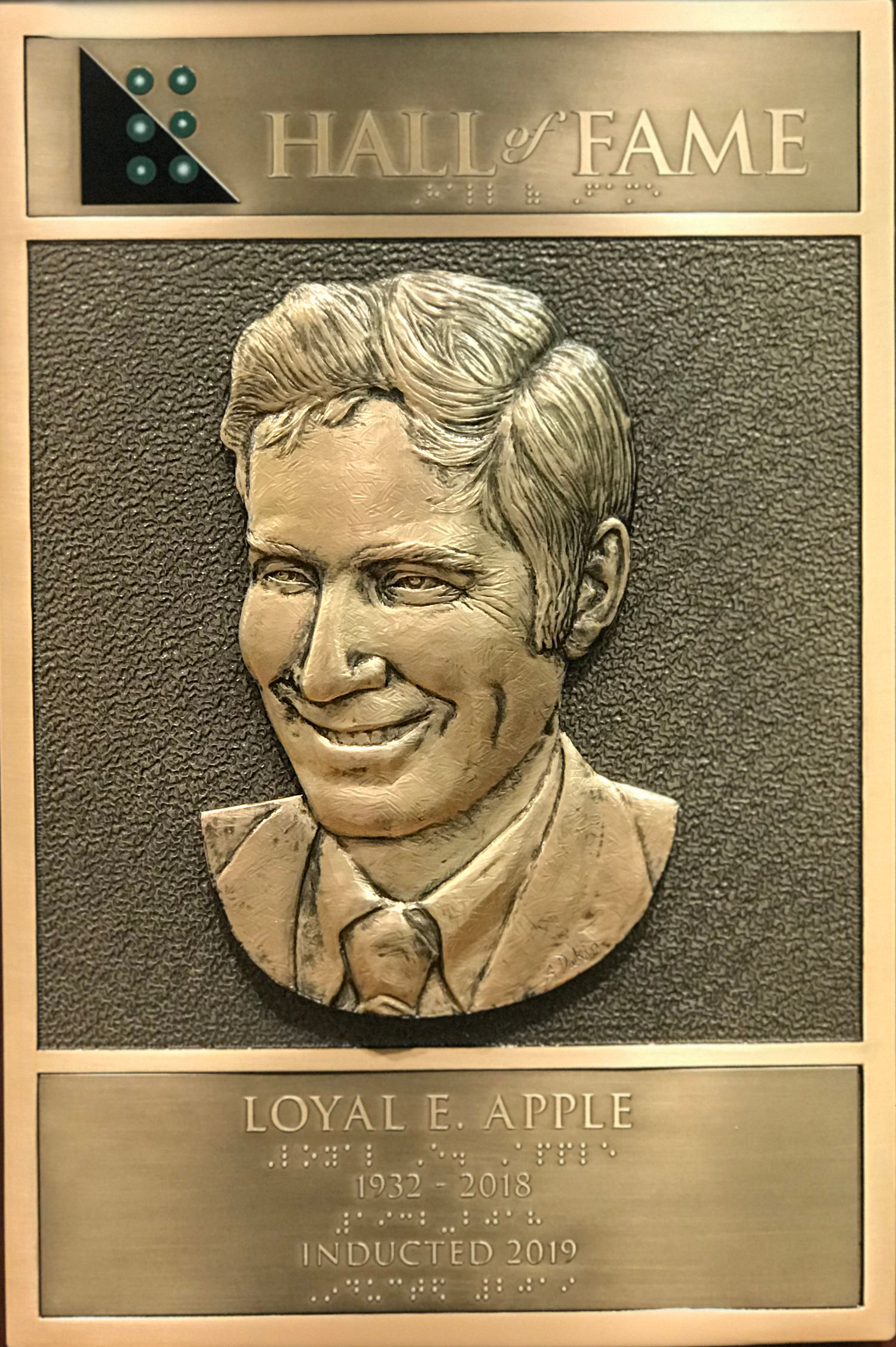Loyal Eugene Apple's Hall of Fame Plaque